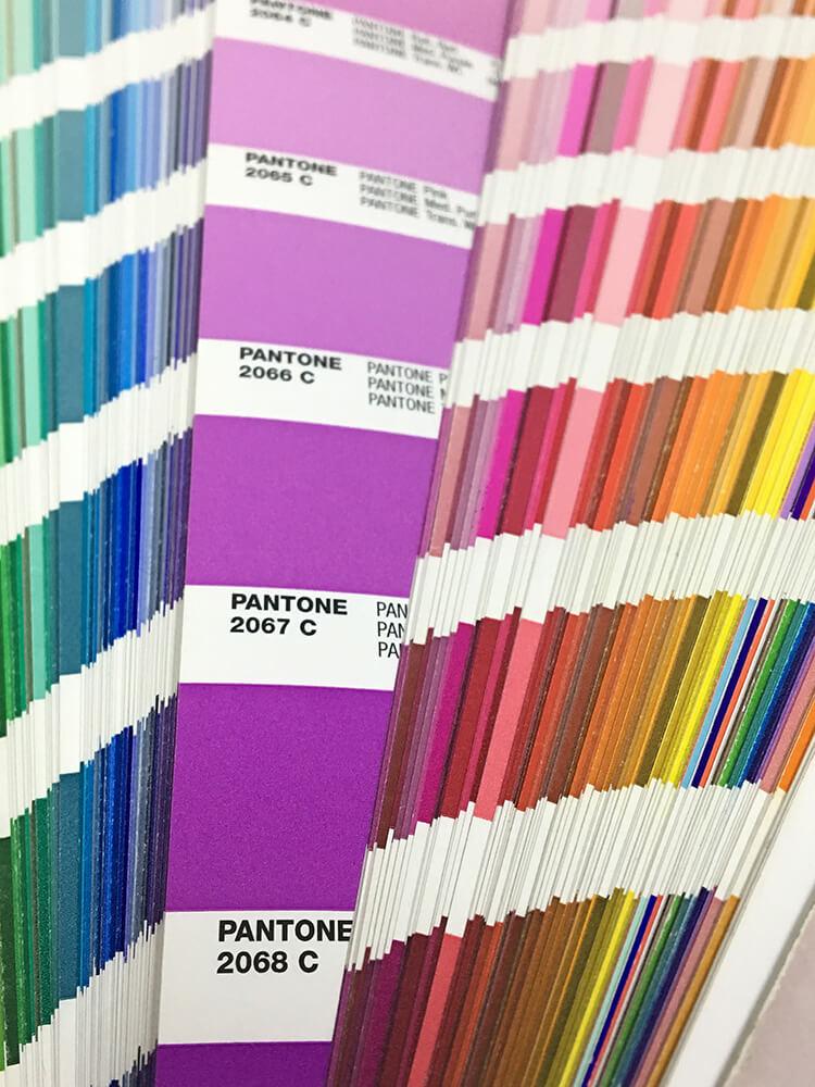 Guia Pantone para la impresión