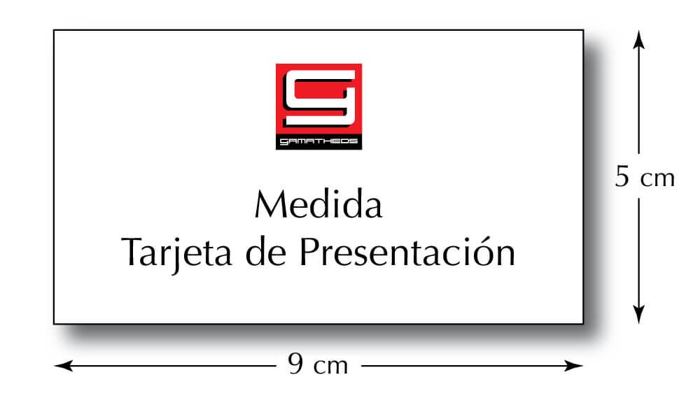 Medida tarjeta de presentación